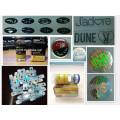 Intercambie la etiqueta brillante impermeable impresa aduana del frasco del holograma de la entrega rápida segura
