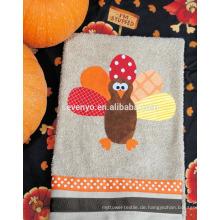 Thanksgiving Cartton Truthahn Handtuch 100% Baumwolle