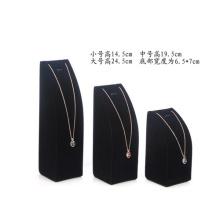Exhibición colgante de la joyería del terciopelo fijado al por mayor (N-ST-P3)