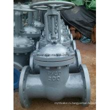 Чугунный запорный клапан Pn40 Dn200 GOST