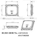 OEM HID D1 D3 Xenon lastro 1307329153 ou 63117182520 apto para E92 E93 M3 E63 E64 650 M6 E83 X3 E70 X5