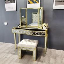 Espelho de ouro antigo espelho de penteadeira