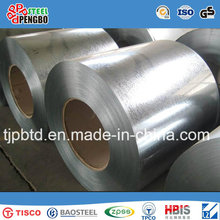 Bobina de acero galvanizada / hoja de techumbre acanalada, bobina galvanizada