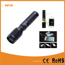 USB Power Banco 600lumens CREE T6 LED Lanterna (POPPAS-6618)