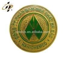 gros émail rond logo personnalisé en métal or épinglettes
