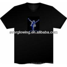 étonnant t-shirt lueur dans l'obscurité