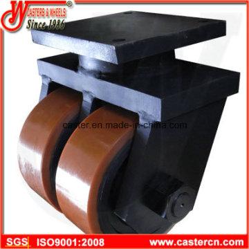 Roulette industrielle ultra haute capacité avec roue jumelée PU