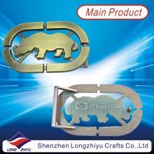 Höhle aus Metall Custom Cowboy glänzende Bronze Gürtelschnallen für Männer Dekoration (lzy201300002)