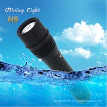 Neues Produkt Cree xm-l T6 führte Tauchen Taschenlampe cree q5 LED Taschenlampe Taschenlampe