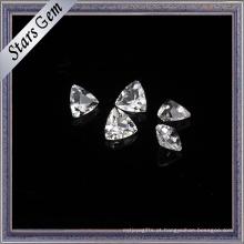 Topázio branco natural da forma do triângulo de Bling Bling para a jóia
