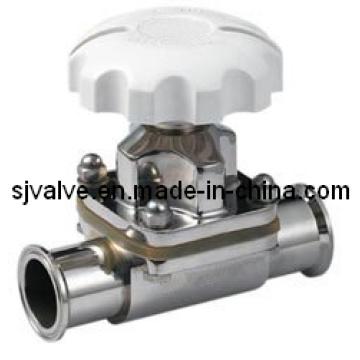 Válvula de diafragma sanitaria de acero inoxidable