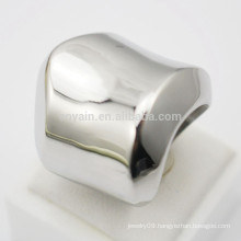Shenzhen Factory Custom Make Stainless Steel Polished Silver Ring