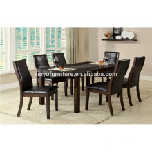 Simple wooden restaurant table set for 6 person XYN1482
