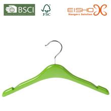 Pequeno tamanho verde plástico kids cabide (pH016)