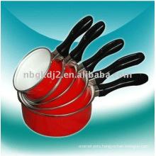 5pcs enamel milk pot sets