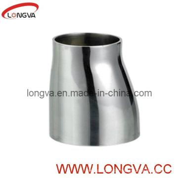Soudure bout à bout sanitaire en acier inoxydable avec réducteur excentrique à extrémités droites