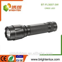 Factory Supply CE ROHs Cree XPE 3W Aluminium 3aaa Emergency Tactical torche Quality Assurance longue portée de la lampe de poche