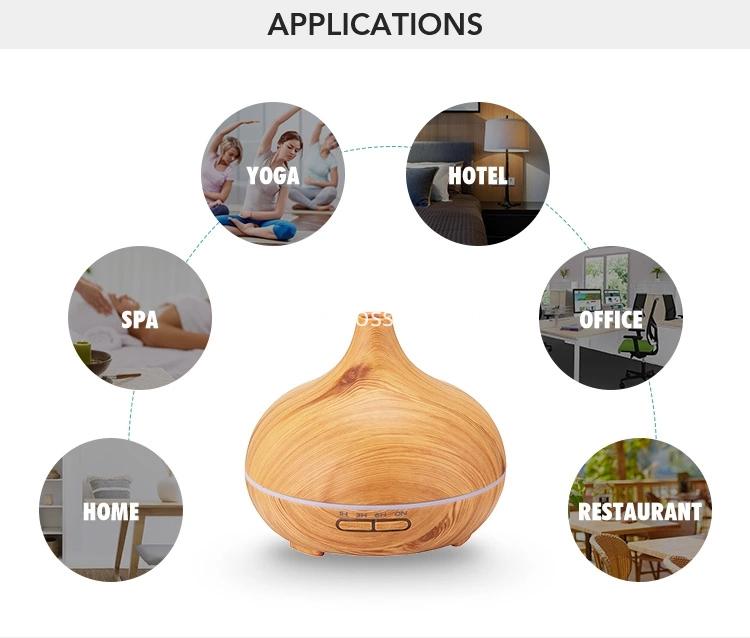 Aromatherapy Air Oil Cream Wood Grain Aroma Diffuser