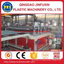 Línea de producción de placa de espuma de corteza de construcción de PVC