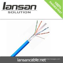Lansan 305m cat6 cabo de rede utp 23awg 4pair BC passar a qualidade do teste do fluke boa e preço de fábrica