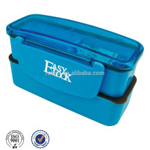 double layer Plastic lunch bento box with lock