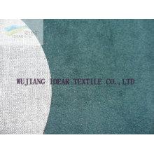 Flocado Poly tejido mezclado de algodón para la ropa