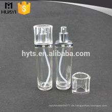 110ml Lotion Glas kosmetische Flasche mit Silberpumpe und klare Kappe