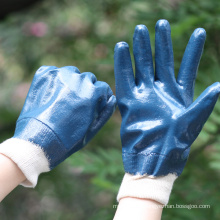 NMSAFETY A grade jersey liner nitrile heavy duty glove oi industrial