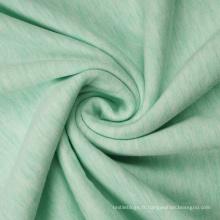 Tissu polaire spandex polyester rayonne chiné