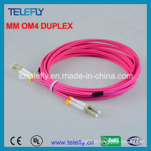 LC Om4 Duplex Fibra Óptica Jumper, Jumper Cable