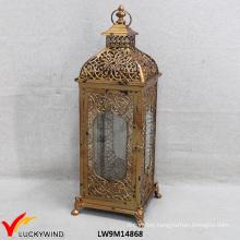 Vintage Golden Metal Glass Wholesale Moroccan Lantern