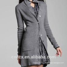 15STC3003 long cardigan pure cashmere coat