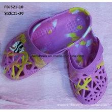 Chinelo estilo casual eva tamancos sapatos de jardim para crianças (fbj521-10)