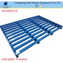Pálete azul galvanizada entrada do metal de 2 maneiras