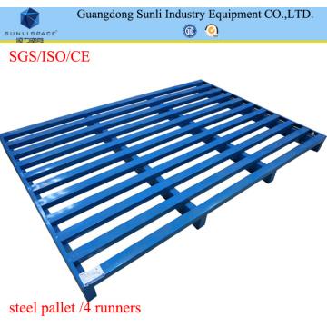 2 Way Entry Galvanisierte blaue Metallpalette