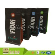 FDA a approuvé la conception faite sur commande de catégorie comestible imprimée gousset latéral 1000g 1kg sac de café en gros