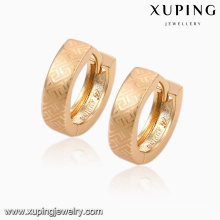 92011 Fashion Hot Selling Simple 18k Gold-Plated Jewelry Earring Huggie on Promotion Price