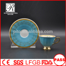 P & T Chaozhou завод, буле цвета застекленные чашки и блюдца, арабские чашки кофе