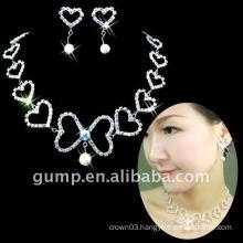heart wedding jewelry set