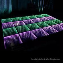 Unendlichkeitsspiegel Illusion 3d führte Tanzfläche Fliesen