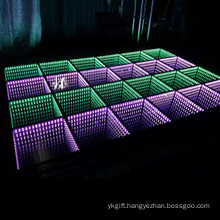 infinity mirror illusion 3d led dance floor tiles