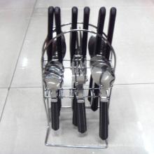 Couverts en acier inoxydable avec poignée en plastique