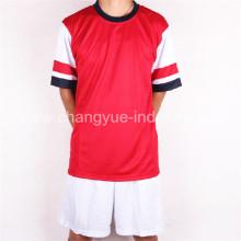 hohe Polyester Fußball Trikot mit Shorts für Kategorie-Training Herren