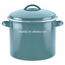 Esmalte colorido de porcelana 16 Quart Covered Stock Pot Esmalte colorido de porcelana 16 Quart Covered Stock Pot