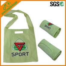 La bolsa de asas plegable no tejida reciclada barata reciclada del hombro de la alta calidad
