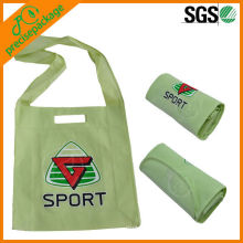 High quality cheap recycled printed non woven folding shoulder tote bag