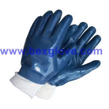 Cotton Jersey Liner, Нитрильное покрытие, Полностью защитные перчатки