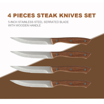 4-teiliges Steakmesserset