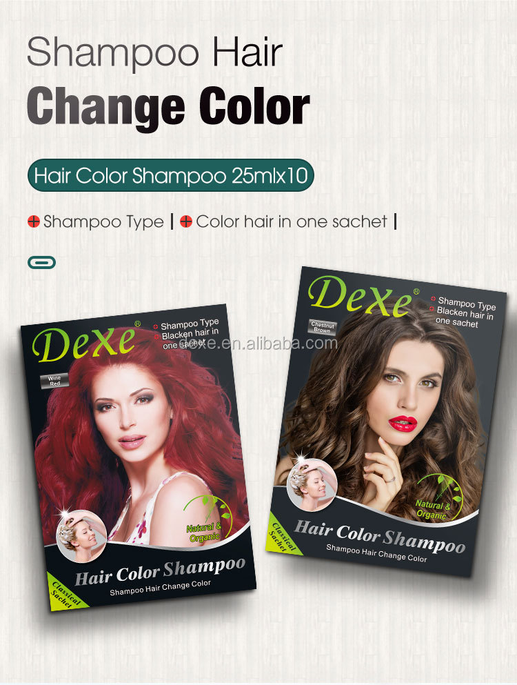 DEXE hair coloring hair color change shampoo private label