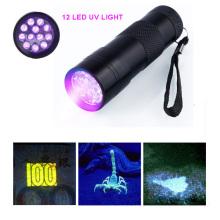 12LED УФ-фонарь УФ-детектор денег свет Черный свет захвата Scorpion Light